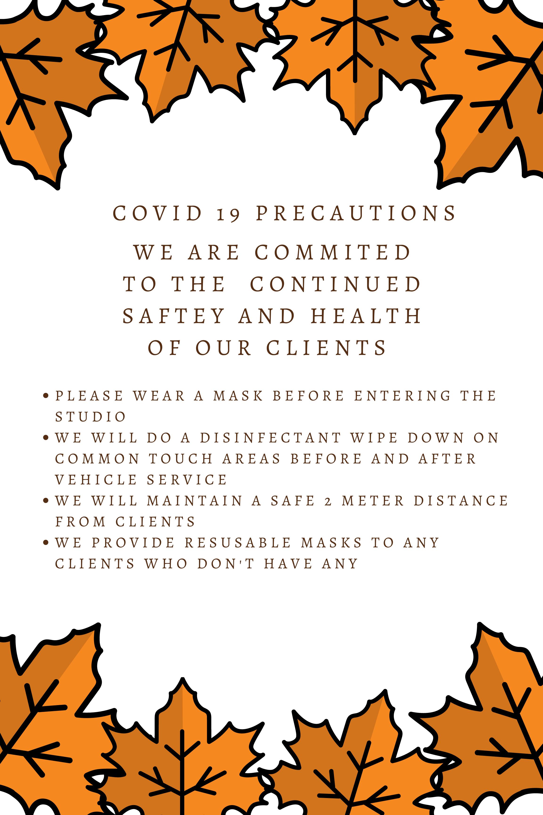 Covid 19 Precautions