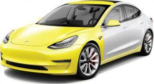 showing protection of PPF option on a Tesla Model 3 Model